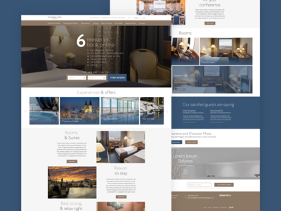 Panorama Hotel website webdesign web ux ui