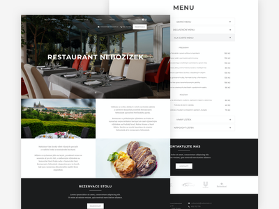 Restaurant Nebozízek design website design web design website webdesign web ux ui