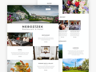 Restaurant Nebozízek design website design web design website webdesign web ux ui