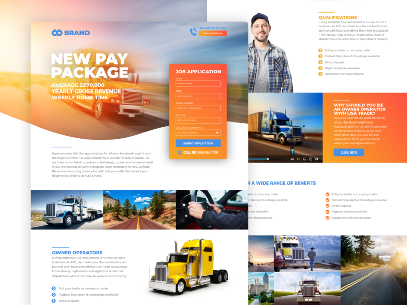 Trucks Services design website design web design website webdesign web ux ui