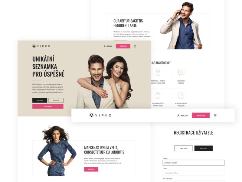 Online dating service website design web design website webdesign web ux ui design