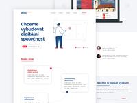 Digi Republic typography logo design design website design web design website web ux ui webdesign