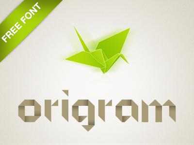 ORIGRAM Free Font origram origami tangram typeface typography freebie type free font display glyphs
