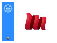 LogoLounge Book 12 logomark wave logo design logo logotype m letter metallurgy flame logolounge