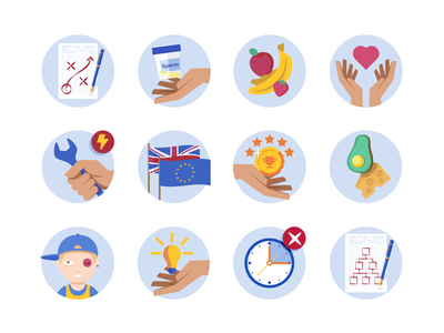 Medify Icons Vol. 2 black eye hands banana wrench structure no extra time critical thinking childhood healthy high fat food achievements brexit troubleshooting be kind fruit sperm planning icons vector illustration