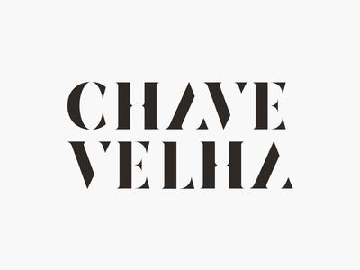 Chave Velha logo letters capitals serif vintage logotype stencil typography type