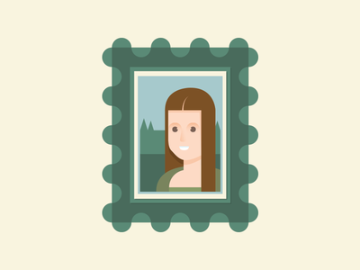Masterpiece mona lisa da vinci female art smile frame painting portrait masterpiece bust gioconda illustration