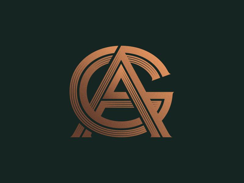 Remote Design Jobs >> AG Monogram by Nuno Dias - Dribbble
