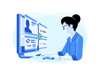Tech Recruiter For Codility lever slack vector art vector technology software ability skills recruit programmers illustration tech recruiter engineer developer desktop coding codility