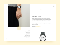 Tid Watches Product Detail web ui simple productcard product minimal interface fashion card watches tid