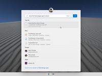Search Flyout search ui app desktop microsoft fluent design