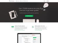 OneClass Landing Page