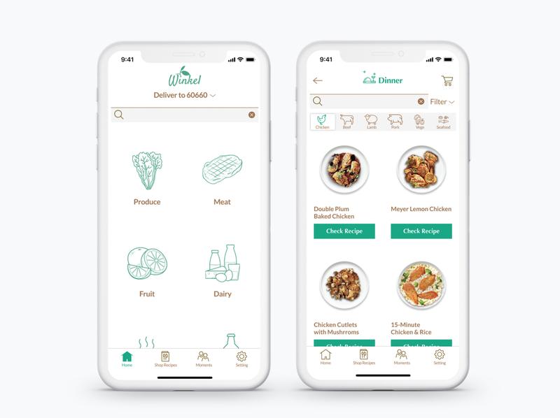 Winkel-Shopping app for fresh cooking ingredient