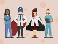 The Real Superheroes in Our Lives coronavirus covid19 heroes superhero website visual design illustration web uidesign animation flat ui design visual