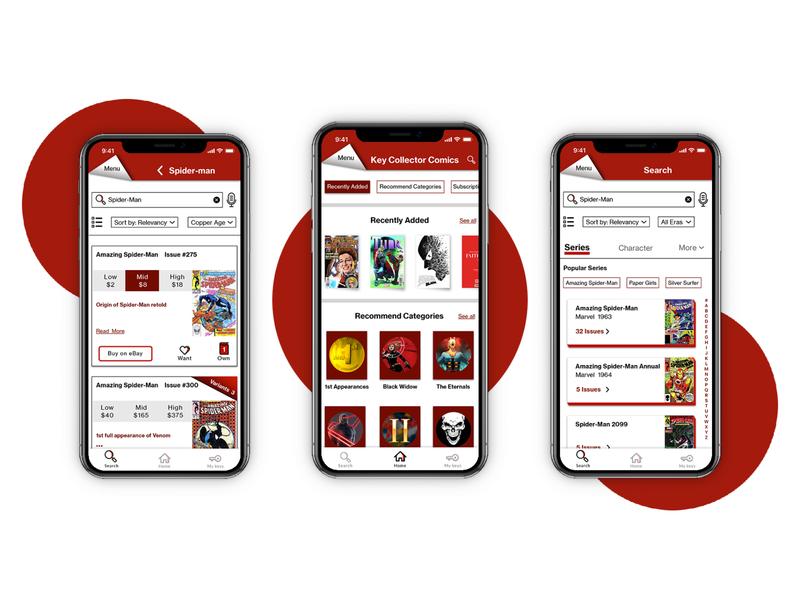 Comic book app for comic book collectors
