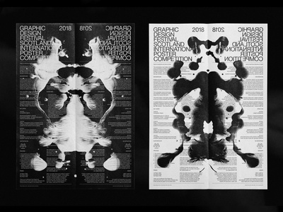 GDFS 2018 Poster Competition black and white poster inverse poster competition inkblot rorschach design poster poster challenge sans serif poster design poster los angeles black and white design graphic design typography