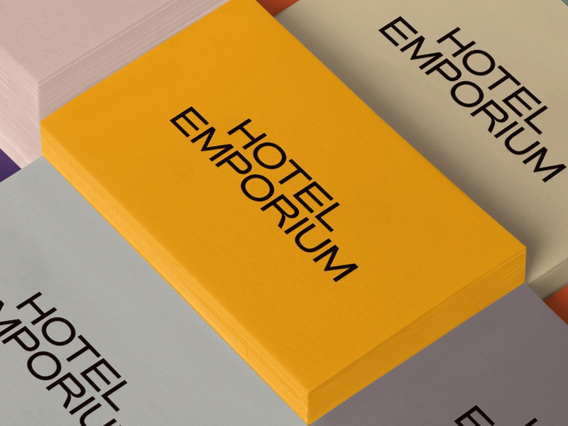 Hotel Emporium hotel design stationery photography collateral design los angeles logo identity design design brand identity art direction graphic design branding typography