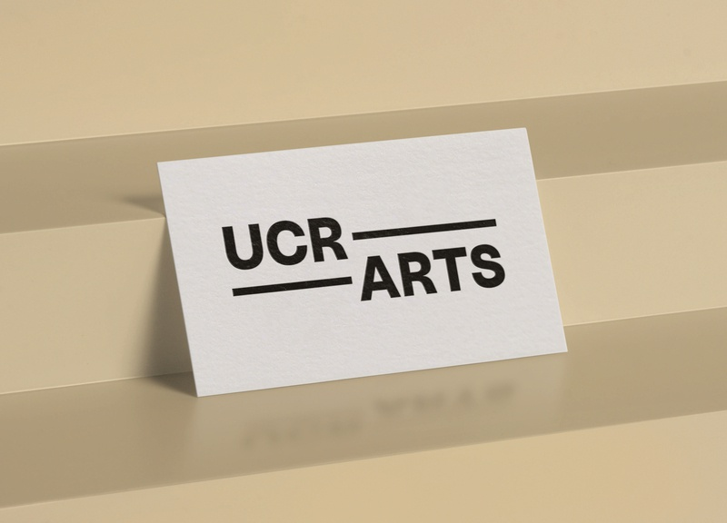 UCR ARTS business card print design vector type stationery poster la black and white print collateral design photography logo identity design brand identity los angeles art direction design branding typography graphic design