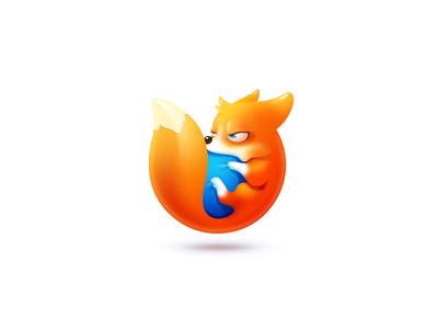 Firefox browser firefox corgi dogs fox icon illustration