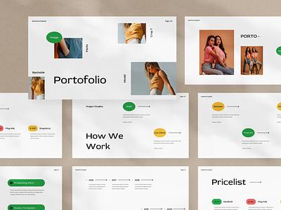 Rotario Presentation clean google slides template layout design pitch deck moodboard keynote presentation presentation template branding presentation design minimal