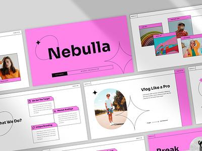 Nebulla Presentation pop clean powerpoint layout design pitch deck keynote presentation presentation template presentation design moodboard minimal branding
