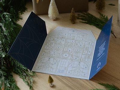 Home for Christmas stars surprise calendar minneapolis vector holidays christmas illustration photography