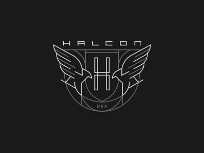 HALCON Badge heritage badge eagle mark branding brand vector logo illustration