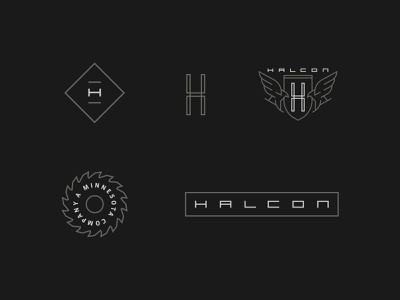 HALCON Collection badge design mark icon branding brand vector logo illustration