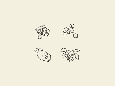 Felicity Coffee: Tasting Note Icons coffee design icon vector illustration