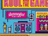 Kool and the Gang Gig Poster
