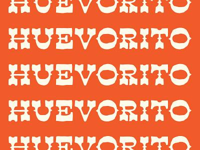 Huevorito! procreate handdrawn lettering typography design branding brand logo vector illustration