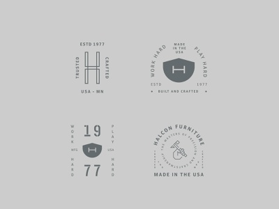 HALCON Brand Expansion vector branding identity badge system crafted minneapolis logo hand icon graphic design
