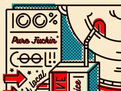 Slurpin' That Creative Juice bitmap creative inspiration vintage retro milwaukee illustration