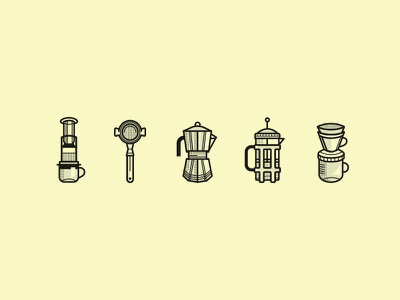 More Coffee, Please! brew drip metal house milwaukee process illustration vector local coffee