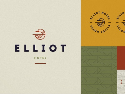 Put a bird on it! hotel organic icon northern bird wood branding pattern logo brand