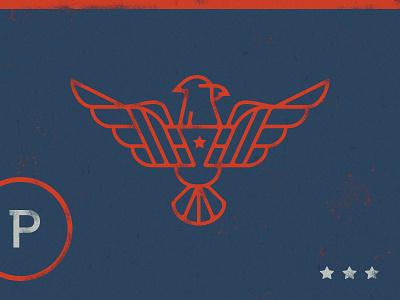 'Merica logo icon brand patriotic star blue red bird eagle america