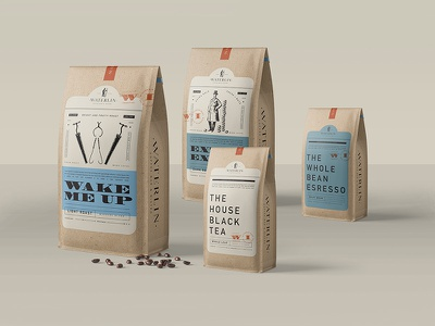 Covfefe tea coffee handdrawn illustration vintage man ice blue logo branding packagedesign packaging
