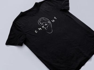 Empathy Black T Shirt christian designer apparel design apparel listen love empathy design christian design illustration graphic design
