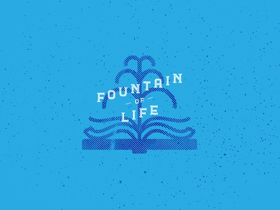 fountain of life christian art bible poster christian designer christian design illustration graphic design