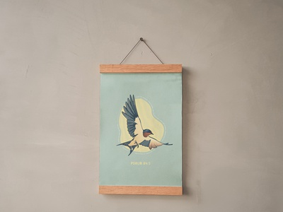 """""""The Swallow"""" christian art poster christianity christian design illustration christian designer christian design graphic design wall art"""