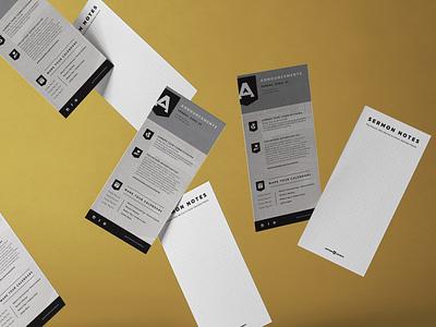 Anthem Church Bulletin print design church marketing christian designer christian design graphic design