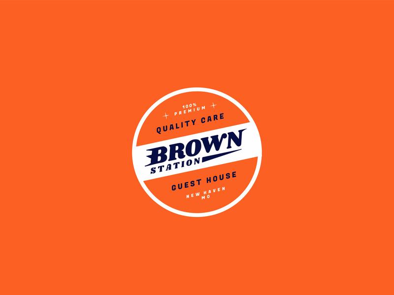 Brown Station branding badge logo badge design design graphic design