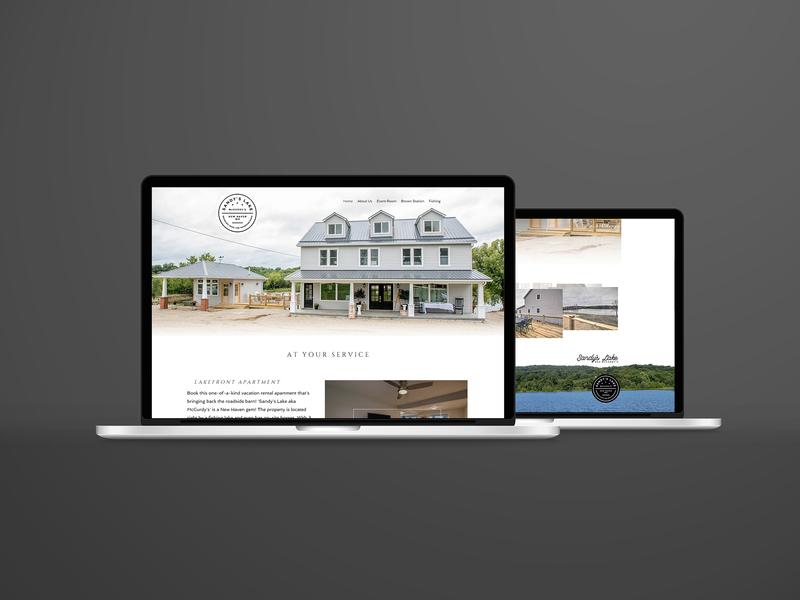 Sandy's Lake Website web  design website graphic design design