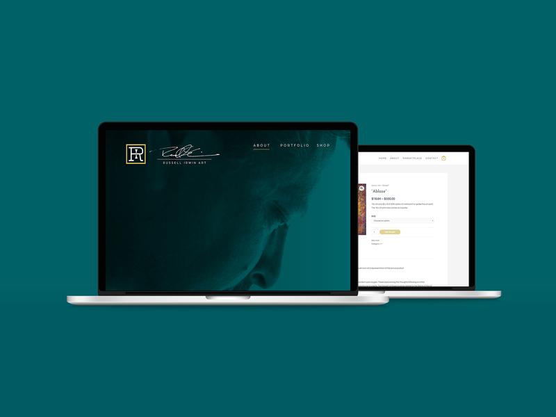 Russell Irwin Artist Website website web  design art artist graphic design design