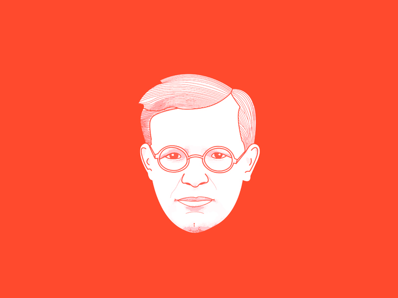 Deitrich Bonhoeffer christian art digital art illustration christian designer christian design theology christianity christian martyr theologian deitrich bonhoeffer