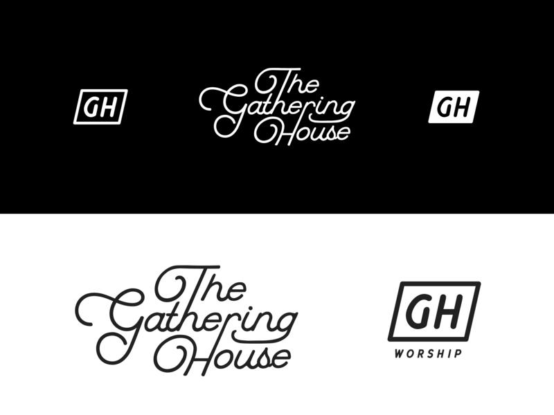 The Gathering House christianity typogaphy christian design christian logo christian worship logo illustration graphic design design