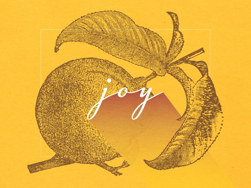 Fruits Of The Spirit - JOY fruit scripture christian designer illustration joy typography christian design graphic design