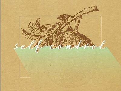 Fruits Of The Spirit - SELF-CONTROL christian poster art poster bible design bible illustration typography fruit christianity christian designer christian design graphic design