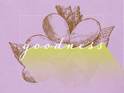 Fruits Of The Spirit - GOODNESS scripture christian art typography poster fruit christianity christian designer christian design illustration design graphic design
