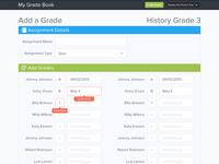 Add a Grade Page